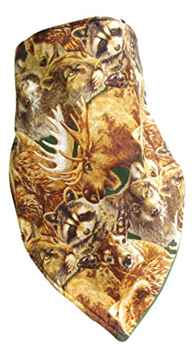Fierce Face Protection Fleece Lined Bandana Forest Animals made in Connecticut