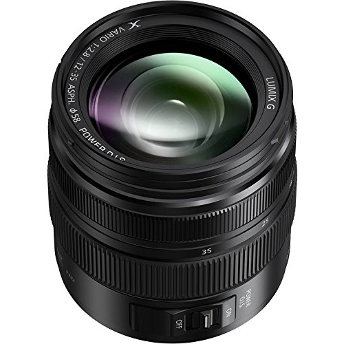 PANASONIC LUMIX G X VARIO II PROFESSIONAL LENS, 12-35MM, DUAL I.S. 2.0 WITH POWER OPTICAL I.S., MIRRORLESS MICRO FOUR THIRDS, H-HSA12035 (2017 Model - USA BLACK)