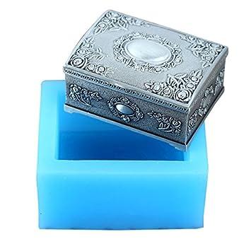 Nicole R1724 regalo caja de joyería forma de silicona 3d moldes de jabón hecho a mano jabón molde para hacer: Amazon.es: Juguetes y juegos