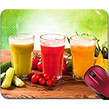 Liili Mousepad ID: 22760208 Fruits vegetables and juice on wood