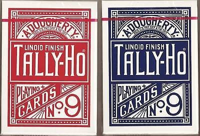 TALLY-HO Circle (12 Decks Pack) by US Playing cards Company - 6 Blue / 6 Red by USPCC ()