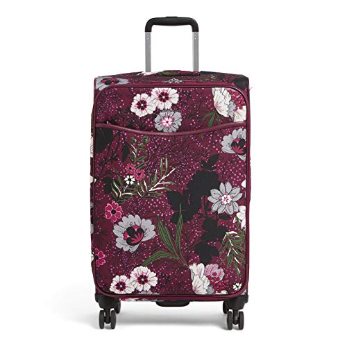 Vera Bradley Rolling Luggage - Vera Bradley Iconic Large Spinner, Bordeaux Meadow, One Size