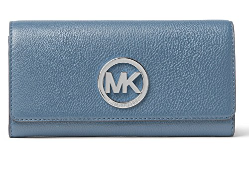 Michael Kors Fulton Carryall Flap Wallet Denim Blue