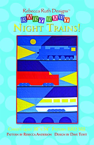 Night Trains! Kids' Quilt Sewing Pattern - Train Quilt Pattern