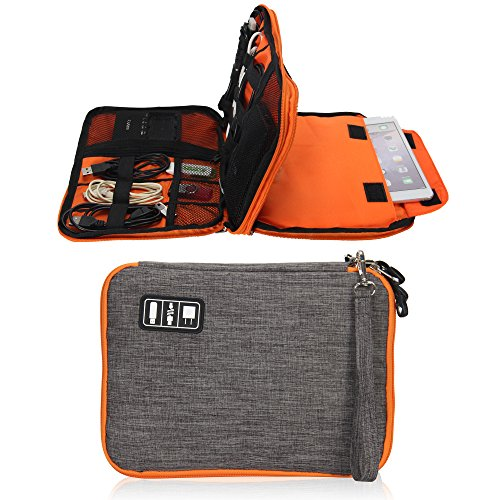 Travel Electronic Organizer Bag Cable Cord Organizer Bag for Various USB Charging Cable iPAD Cellphone by Showroom 16