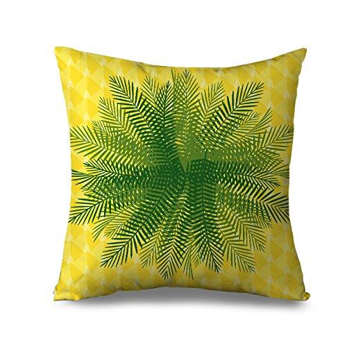Amarillo - Funda de almohada manta fundas para cama hojas ...
