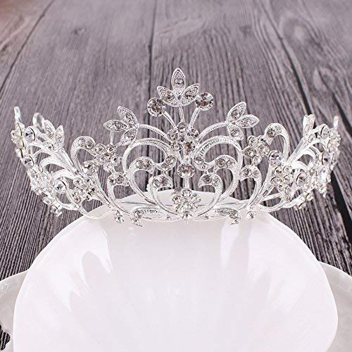 Crystal Crown, Bridal Crown Crystal Diamond Hair Wedding Dress Accessories Accessories (Color : A)
