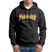 SARAH Men's Thrasher Magazine Skateboarding Hoodie XL Black