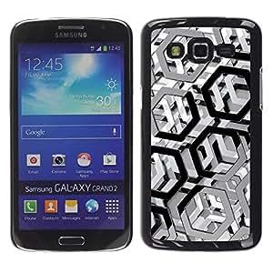 Smartphone Rígido Protección única Imagen Carcasa Funda Tapa Skin Case Para Samsung Galaxy Grand 2 SM-G7102 SM-G7105 Metal Pattern / STRONG