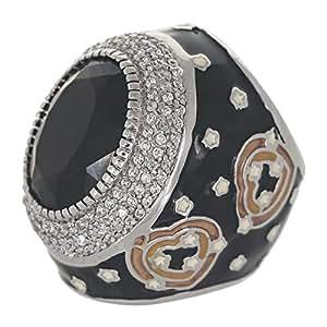 Venus Accessories Women's Rhodium Plated Brass Ring - 6 US