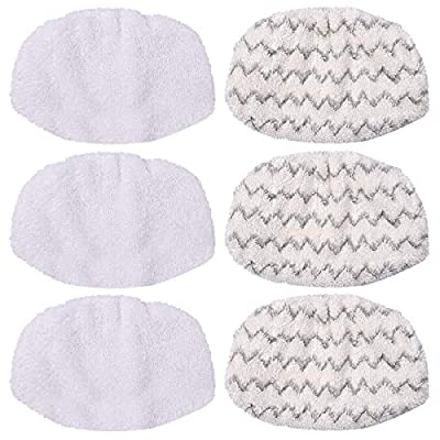 KEEPOW 6 Pack Washable Steam Mop Pads for Bissell Symphony 1132A, 1543A, 1252, 1132, 1543 Hard Floor Vacuum Steamer