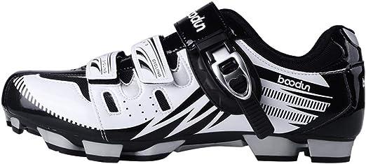 Calzado de Ciclismo para Hombre, Zapatos de Ciclismo de montaña ...