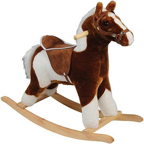 CP Toys – Plush Rocking Horse with Realistic Sounds – Safely Holds Children Up to 80 Lbs. (Plush Pony Whinny)