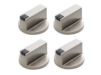 uctop almacenar 4 pc 6 mm 90 ° Universal acero inoxidable redondo pomos para estufa de gas Cocina Horno Encimera Interruptor de control