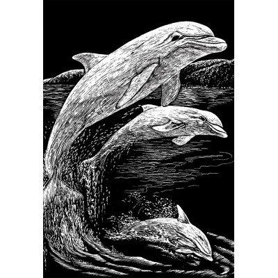 Bulk Buy: Royal Brush Silver Foil Engraving Art Kit 8''X10'' Dolphins SILF-11 (3-Pack)