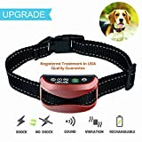 #9: No Bark Collar [Latest Version] No Barking dog Collar Beep / Vibration / Safe Shock / Sensitivity Control Rechargeable Anti Bark Collar for Small Medium Large Dogs (Red)