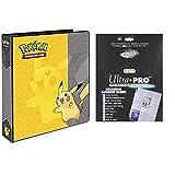 "Ultra Pro Pokemon Pikachu 2"" 3-Ring Binder Card Album with 100 Platinum Series 9-Pocket Sheets"