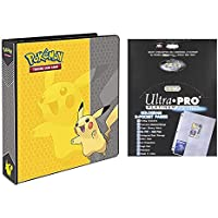 "Ultra Pro Pokemon Pikachu 2"" 3-Ring Binder Card Album with 100 Platinum Series 9-Pocket Sheets"