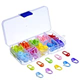 Shappy 120 Pieces Knitting Crochet Locking Stitch Markers Stitch Needle Clip, 10 Colors