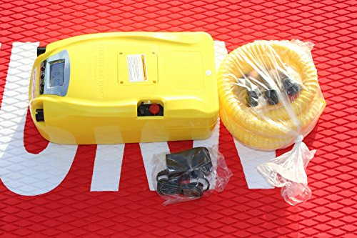Digital High-Pressure Electric Pump with Battery. Two Stage. 1 to 11.6 PSI. Inflate boats, kayaks and rafts in minutes. Never use hand pump again! Inflates and deflates. Highly Recommended! (Best Inflatable Kayak Australia)