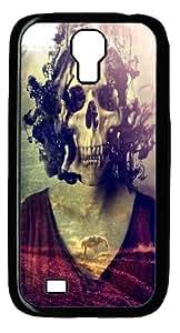 Miss Skull Custom Samsung Galaxy I9500/Samsung Galaxy S4 Case Cover Polycarbonate Black