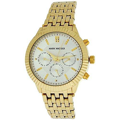 Mark Maddox Ladies Multifunction Dial Goldtone Bracelet Strap Watch MM0009-27