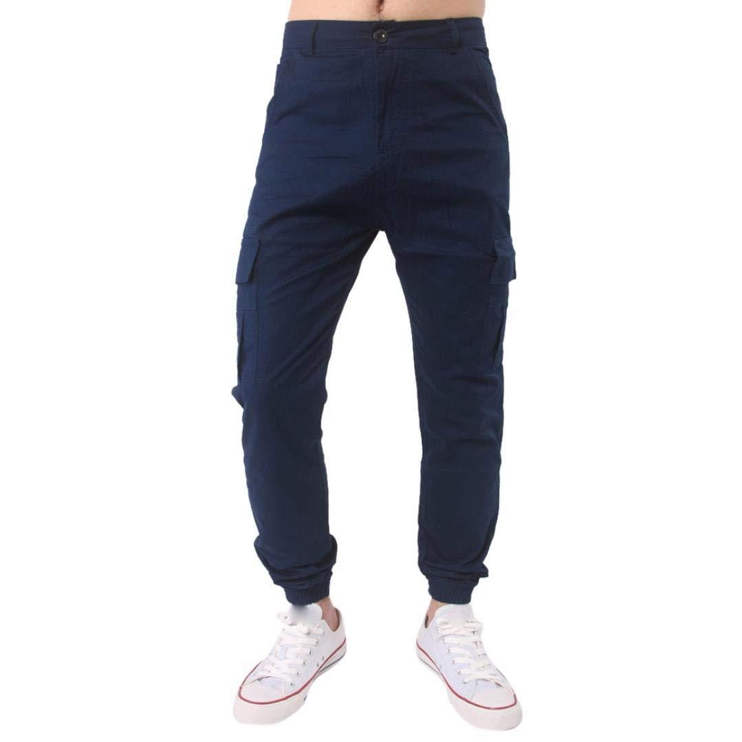 Realdo Hot!Clearance Sale, Men Trousers Harem Sweatpants Slacks Casual Jogger Pant Sportwear Comfy (40,Navy)