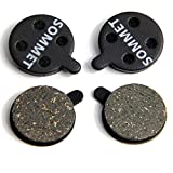 SOMMET 2 pairs Resin and Semi-Metallic Disc Brake Pads fit for ZOOM DB-280 / 350 / 450 / 550 / 650 / Alongha SNG / Apse / Artek Apollo / Shockwave / X-Rated ZSP04-2