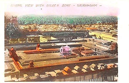 Postcard Dome - General View with Golden Dome Srirangam India Postcard