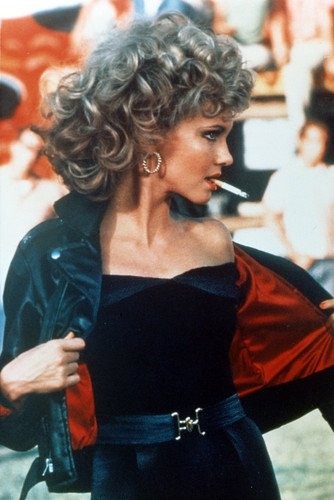 Olivia Newton-John 24x36 Poster Grease leather jacket and cigarette