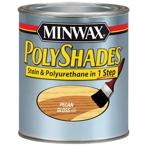 Minwax 61420444 PolyShades - Stain & Polyurethane in 1 Step, quart, Pecan, Gloss