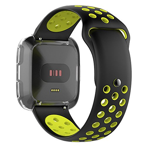 [Fitbit Versa] Breathable Two-toned Perforated Strap