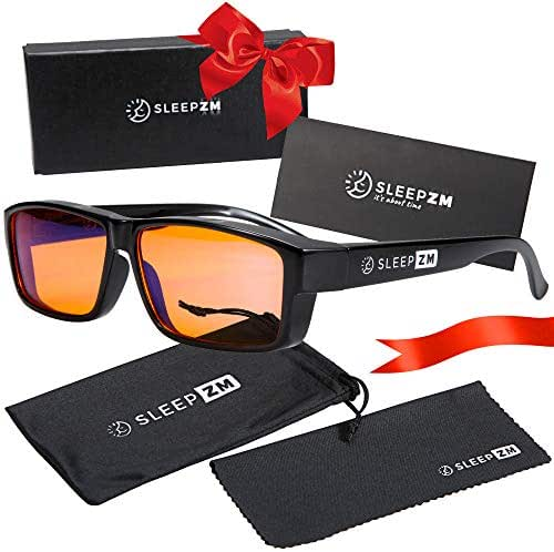 Fit Over 99.9% Anti Blue Light Blocking Computer and Gaming Glasses for Women and Men - Fitover Your Prescription or Reading Glasses - Sleep Better - Reduce Eye Strain - Stop Headaches