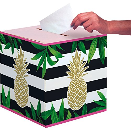 Creative Converting 332548 Golden Pineapple Noise Maker, 12x12x12in, Multicolor