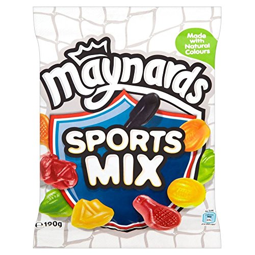 Maynards Bassetts Sports Mix Bag Plastic Soft Sugar Confectionery Fruit, 190 g