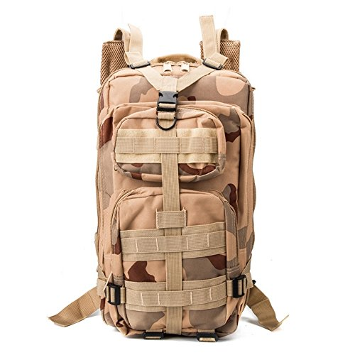 ZOUQILAI 30L Waterproof Compact Backpack Outdoor Camping Backpack Hiking Trekking To Survive With Chicken Backpack (Color : Desert Camo)