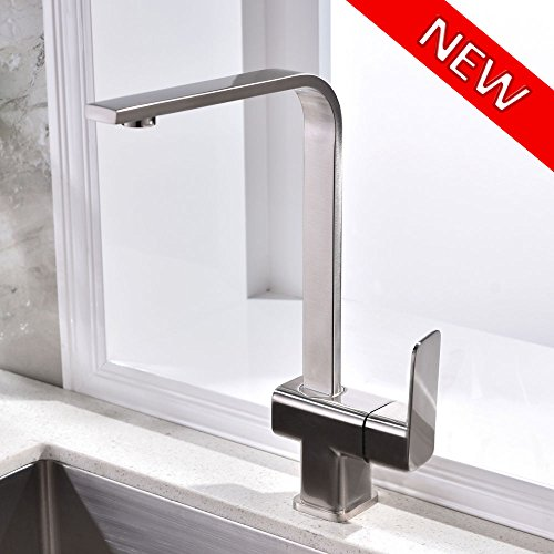 Check Out This VCCUCINE Best Modern Stainless Steel Brushed Nickel Single Handle Kitchen Bar Sink Fa...