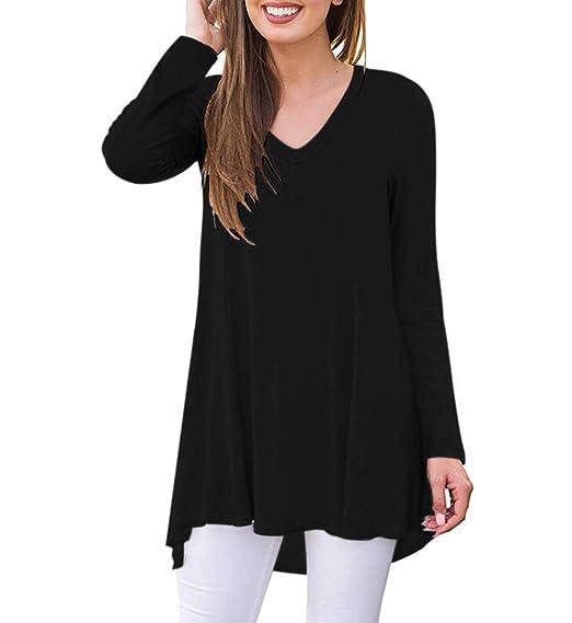 Women's Fall Long Sleeve V-Neck T-Shirt