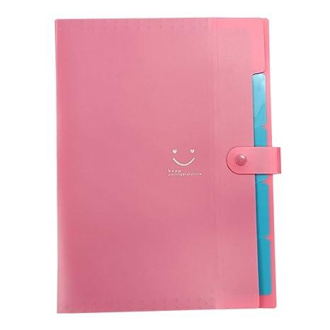 Amazon.com : TOOGOO(R) Kawaii FoldersStationery Carpeta File Folder 5layers Archivadores Rings A4 Document Bag Office Carpetas£¨Red£ : Office Products