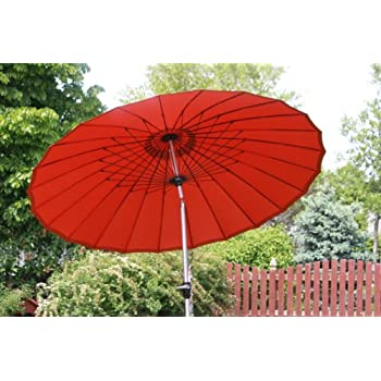 Exclusive 24 Rib 9u0027 Wind Resistant Fiberglass Patio Umbrella   Tilt