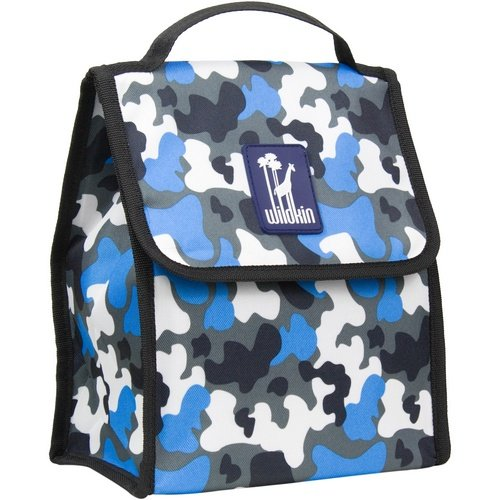 Lunch Bag, Wildkin Lunch Bag, Insulated, Moisture Resistant, Easy to Clean and Folds Flat Making Storage That Much Easier, Ages 3+, Perfect for Kids or On-The-Go Parents – Blue Camo