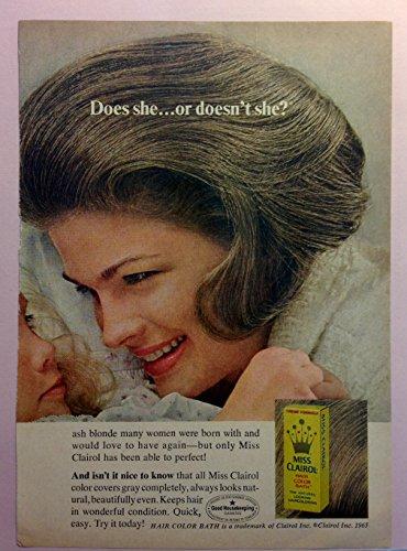 Original 1960s Ad Miss Clairol Hair Color Bath