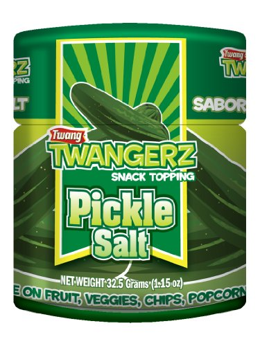 Twang Twangerz Flavored Salt Snack Topping - Lime, Lemon Lime, Chili Lime & Dill Pickle (Dill Pickle, 4 Pack) ()