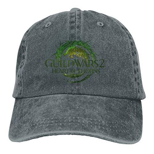 Kemeicle Unisex Guild Wars 2 Heart of Thorns Dad Hat Adjustable Pigment Dyed Baseball Caps Snapback Deep Heather (Guild Wars 2 Heart Of Thorns Level Cap)
