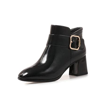 94575ed9d9bb9 Amazon.com: Kyle Walsh Pa Women Side Buckle high Heels Ankle Boots ...
