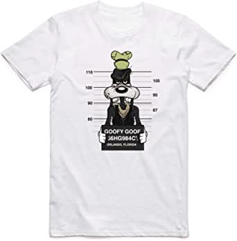 White Color Goofy T-Shirt For Men - size S
