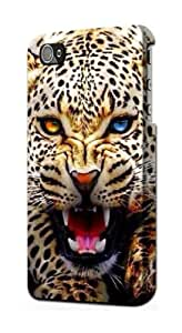 S1932 Blue Eyed Leopard Case Cover For IPHONE 4 4S