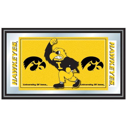 Trademark Gameroom NCAA University of Iowa Framed Logo Mirror by Trademark Gameroom