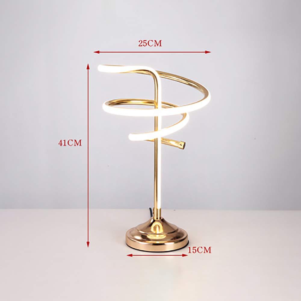 LED Spiral Table Lamp Lamp Lamp 37W Dimmable Smart Acrylic Spiral Table Lamps Modern Creative Desk Lamp Warm Weiß Light Minimalist Night Stand Lesung für zu Hause Bedside Office,Weiß B07PV9CL7J | Günstige  ec8038