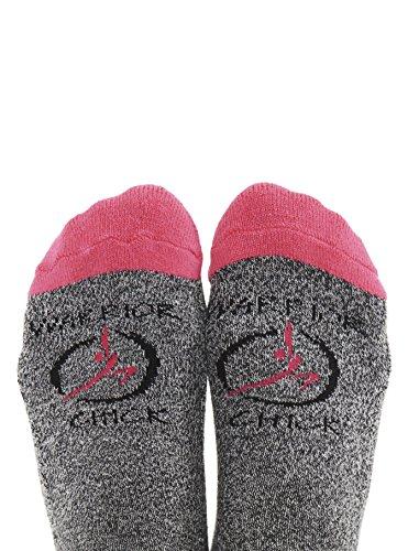 Toe Talk WARRIOR CHICK Non Slip Socks for Pilates Yoga Barre Tai Chi Dance Meditation & Mindful (Grip Breast)